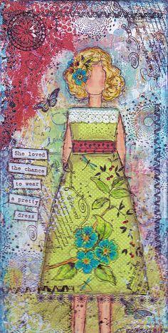A pretty dress by Janie