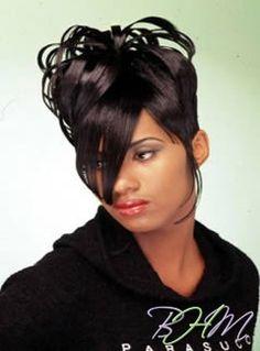 Retro Hairstyles, Black Hairstyles, 90s Memes, Weave Styles, Early 2000s, Hair Updo, Black Queen, Cornrows, Black People