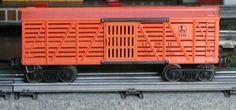 Lionel postwar # 6646 Lionel Lines orange stock car.