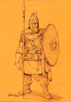 Ilustrations and images of the Hellenistic Period. Iron Age, Rome Hbo, Hellenistic Period, Germanic Tribes, Medieval Armor, Ancient Rome, Barbarian, Ancient Civilizations, Historical Clothing