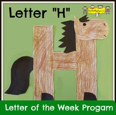 """Letter """"H"""" -Letter of the Week Program – How To Run A Home Daycare - Crafts Letter H Activities, Alphabet Letter Crafts, Abc Crafts, Preschool Letters, Preschool Activities, Alphabet Book, Preschool Projects, Letter Art, Home Daycare"""