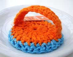 Dish Scrubbie - create a similar pattern with plarn!