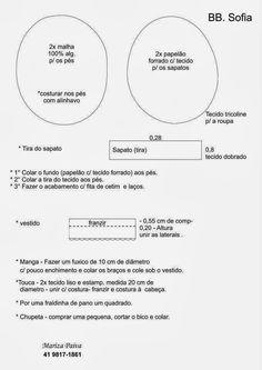 FELTRO MOLDES ARTESANATO EM GERAL: BONECA