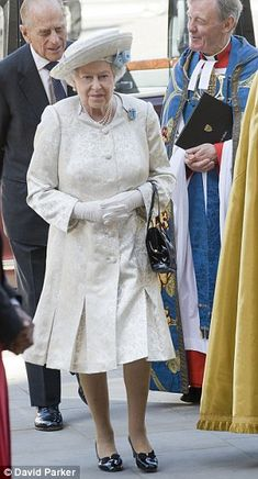 HM the Queen attending a service of thanksgiving at Westminster Abbey in Honour of the 60th anniversary of the Coronation