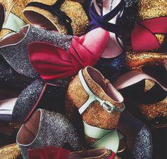 Miu Miu Glitter Boots & Ankle Pumps