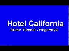 Hotel California - guitar tutorial (fingerstyle)