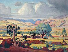 One View Of Africa: Jacobus Hendrik Pierneef. Artist Paint, African Paintings, Artist At Work, Tribal Art, Africa Art Design, Emerging Artists, Art, Tree Drawing, South African Artists