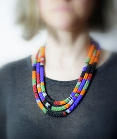 Multi Colored Striped African Style by HeriniasJewelryChest, $86.00