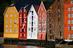 Trondheim Bryggen in Norway. Photo by Photos ludiques on Flickr.