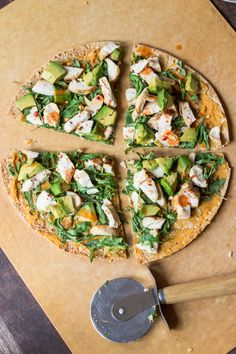 Pizza on a GF tortilla with lots of topping ideas - I do this all the time with my daughter!