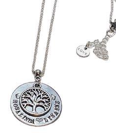 Levensboom hanger met namen - Naam levensboomhanger   Naam sieraden ❤️   Charmant Sieraden Washer Necklace, Silver, Jewelry, Glamour, Names, Jewlery, Jewerly, Schmuck, Jewels