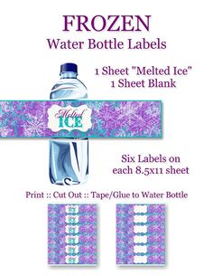 Frozen Birthday Party Water Bottle Labels by CapturedbyJessPrints Olaf Birthday Party, Olaf Party, Disney Frozen Party, Frozen Birthday Party, 6th Birthday Parties, Third Birthday, Birthday Ideas, Bottle Labels, Beer Labels
