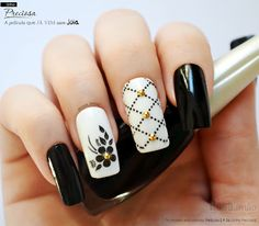 Nail Art - Nagel Design , Nail Trends , nail art galleries - Black and white Nail art visit here for more nail art inspo Gorgeous Nails, Pretty Nails, Perfect Nails, Black And White Nail Art, White Nails, Nail Color Trends, Nail Colors, Cute Acrylic Nails, Gel Nails