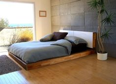Holzbett rustikal  Details zu Bett Doppelbett Balken Bett Kiefer Fichte massiv ...