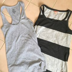 Mossimo tank tops Mossimo tank tops in excellent condition one is solid Gray and the other is a two-tone gray both size small group for the summer no stains Mossimo Supply Co Tops Muscle Tees
