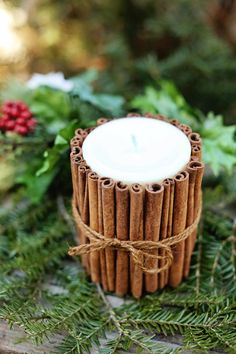 Add a touch of handmade to your wintry centerpiece.