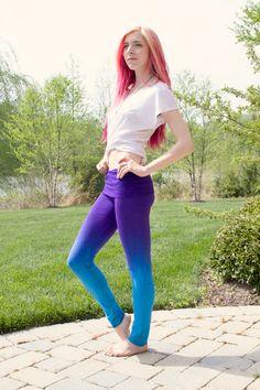 Blue & Purple yoga leggings!