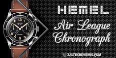 HEMEL Air League Chronograph 316l Stainless Steel, Chronograph, Brown Leather