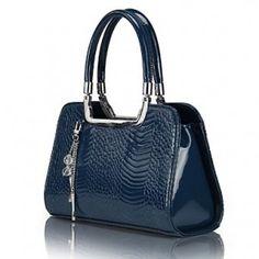 babb43eef16 Fashion Contrast Color Crocodile Grain Tote. Leather Shoulder BagShoulder  ...