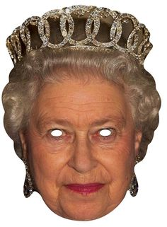 The Queen Celebrity mask Party Face Masks, Mask Party, Party Warehouse, Masque Halloween, Queen 90th Birthday, Printable Masks, Printables, Balloons And More, Elisabeth Ii