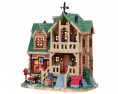 Timber Ridge Retreat Lemax Fan Pages (VPS) - Christmas Villages Collectors Web Site Christmas Village Collections, Christmas Village Accessories, Christmas Village Sets, Christmas Villages, Christmas Home, Christmas Holidays, Lemax Village, Santa's Village, American Sales