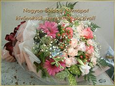 Névnapra 2 Name Day, Floral Wreath, Banner, Wreaths, Birthday, Google, Home Decor, Happy, Picasa