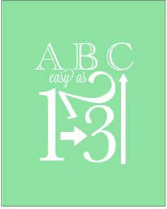 ABC Nursery Art Printable