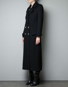 MILITARY STUDIO COAT - Coats - Woman - ZARA United States