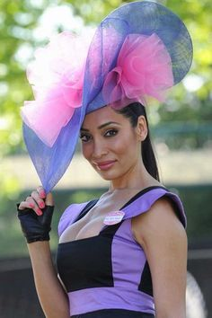 The bigger the better when it comes to Ascot hats!