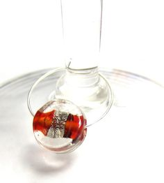 Glass Wine Charm