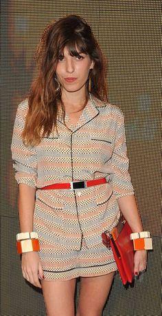 Lou Doillon models pajama dressing at its cutest.