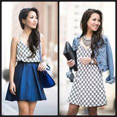 One dress worn two ways!