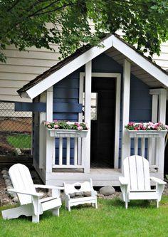 20 Cheerful Outdoor Kids Playhouses