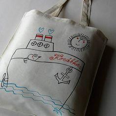 blueprint / KOCÁBKA - taška nákupní Reusable Tote Bags, Sewing, Dressmaking, Couture, Stitching, Sew, Costura, Needlework