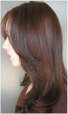Sable brown hair - color by Amanda George. Cut and style by Tami Jensen.
