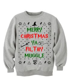 I NEED THIS ----Home Alone - Off The Shoulder - Merry Christmas Ya Filthy Animal - Ugly Christmas Sweater - Red Slouchy  Sweater