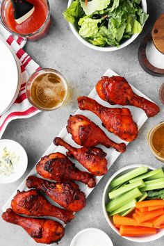 These Oven-Roasted Buffalo Drumsticks have the same great taste as fried chicken wings. Serve them for dinner with rice and salad or mashed potatoes.