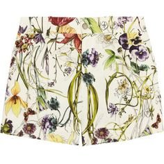 Floral Trends for Spring from Gucci -- Flora Print Linen Shorts Pleated Shorts, Linen Shorts, Floral Shorts, Multi Coloured Shorts, Flora Print, Spring Shorts, Gucci Floral, Printed Linen, Style Guides