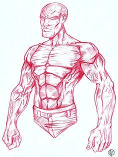 Study body man style comics.  Art: Leandro Sans  Site: http://leandrosans.flavors.me  Instagram: @leandro_sans