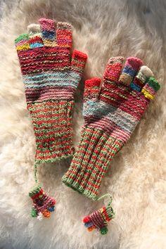cute gloves and cuter mini gloves