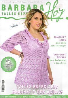 Delicadezas en crochet Gabriela: Colección de prendas en talles especiales paso a paso