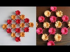 (95) Paper Flower Wall Hanging - DIY Hanging Flower  - Wall Decoration ideas - YouTube