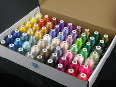 Simthread 63 Brother Colors Polyester 120d/2 40 Weight Embroidery Machine Thread…