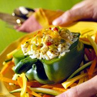 Chicken and Rice Stuffed Peppers Recipe