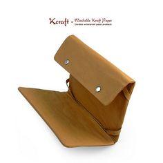 Hand Made Leather like iPad Case iPad 1 Case / iPad 2 Cover / iPad 1 Cover / iPad Sleeve / Padded iPad Case Washable Kraft Craft-KE29. $28.00, via Etsy.