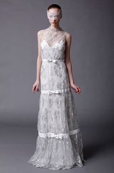 Douglas Hannant lacy wedding dress, Spring 2013
