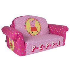 Childrens Sofa Bed Peppa Pig Couch 2 In 1 Flip Open Foam Sofa Furniture  Durable