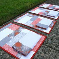 Color Blocks Placemats   Napkins Holiday Sew-Along Week 1