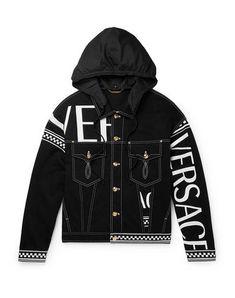 Versace T Shirt, Versace Logo, Versace Men, Nasa Clothes, Men Clothes, Designer Jackets For Men, Versace Sneakers, Denim Jacket Men, Leather Jacket