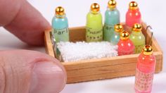 DIY miniature soap bottles for dolls and dollhouse DIY mini soap bottles miniatures / dollhouse crafts / diy tutorials miniature doll shampoo bottle These ar...
